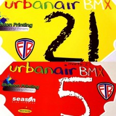 BMX Race Numberplate background decal